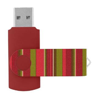 Bold Stripes Swivel USB 2.0 Flash Drive