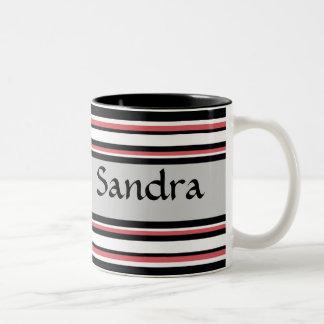 Bold Stripes Two-Tone Coffee Mug