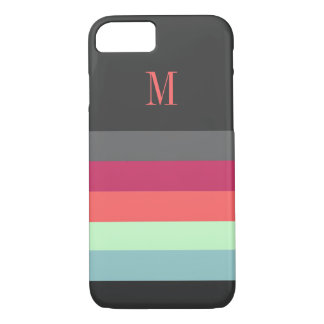 Bold Stripes with Monogram iPhone 8/7 Case