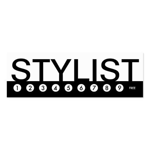 bold STYLIST customer loyalty Business Cards