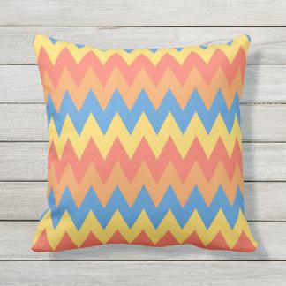 Bold Summer Chevrons Outdoor Pillow