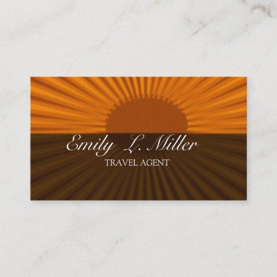 Travel agency business card zazzle bold sun rising travel agent vacation business card reheart Choice Image