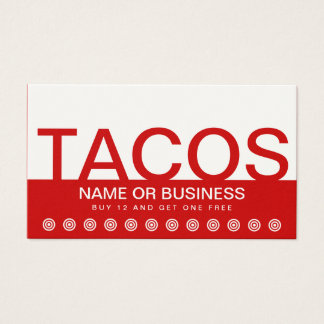 bold TACOS customer loyalty card