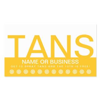 bold TANS customer loyalty card
