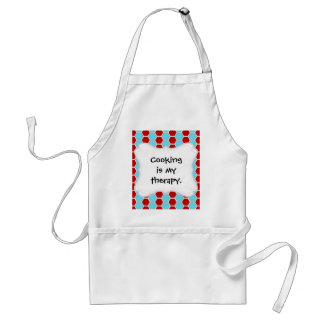 Bold Teal Blue and Red Hexagon Tile Pattern Gifts Adult Apron