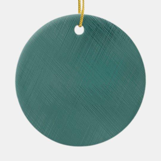 Bold Teal Green Ceramic Ornament