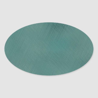 Bold Teal Green Oval Sticker