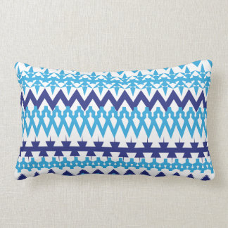 Bold Teal Turquoise Blue Tribal Chevron Pattern Pillow
