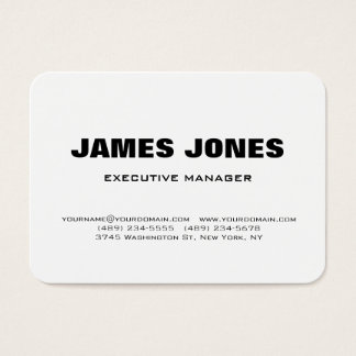 Bold Text Black White Stylish Modern Professional Business Card
