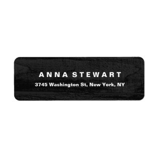 Bold Text Elegant Gray Wood Professional Modern Label