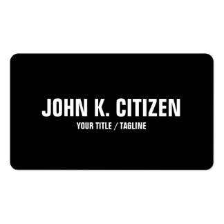 Bold Text Rounded Business Card - black / white
