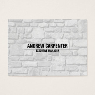 Bold Text Wall Stones Unique Modern Professional Business Card