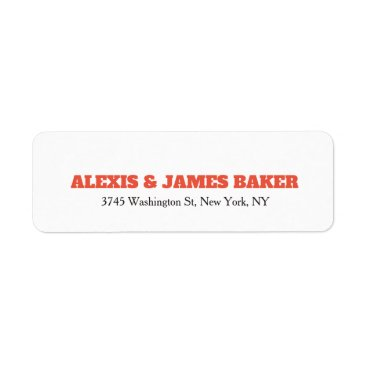 Professional Business Bold Text White Unique Creative Style Family Name Label