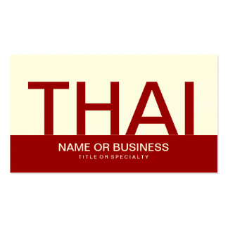 bold THAI (color customizable) Double-Sided Standard Business Cards (Pack Of 100)
