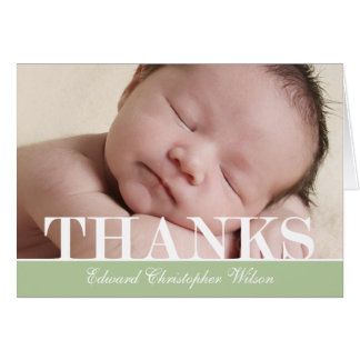 Bold Thanks Thank You Card Greeting Card