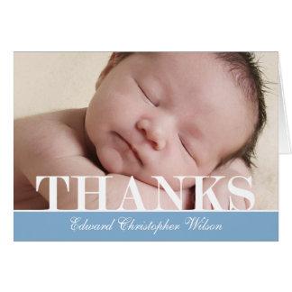 Bold Thanks Thank You Card Greeting Cards