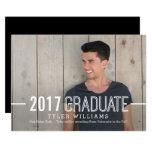 Bold Timeless Graduation Announcement Invitation at Zazzle