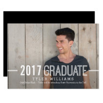 Bold Timeless Graduation Announcement Invitation