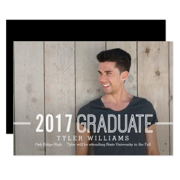 Bold Timeless Graduation Announcement Invitation by berryberrysweet at Zazzle