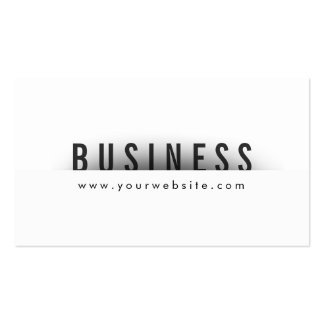 Bold Title Minimalism Announcer Business Card