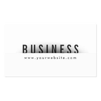 Bold Title Minimalism Hygienist Business Card