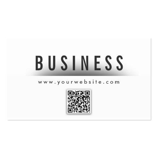 Bold Title QR Code Nail Art Business Card