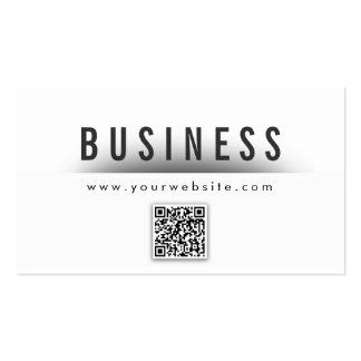 Bold Title QR Code Vocalist Business Card