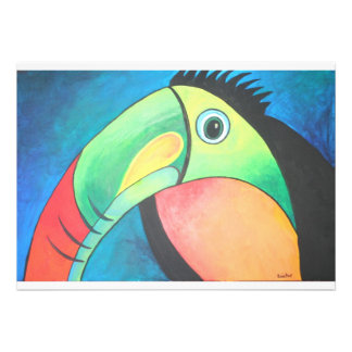 Bold Toucan Custom Invitation