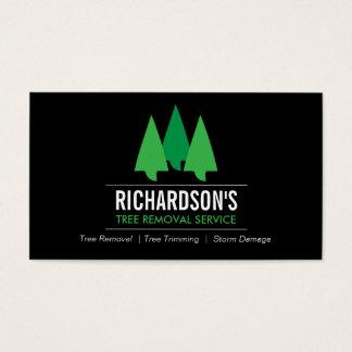 Bold Tree Service Logo Green/Black Business Card