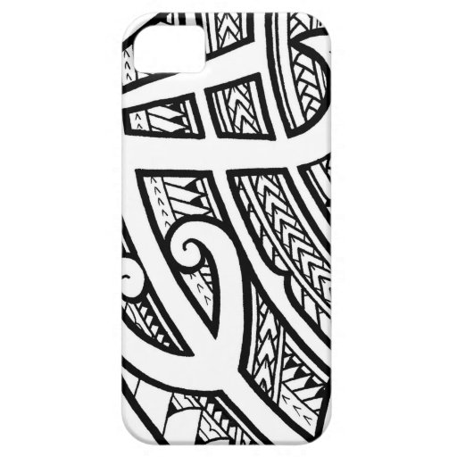 bold tribal tattoo island design with spearheads iphone 5 case zazzle. Black Bedroom Furniture Sets. Home Design Ideas