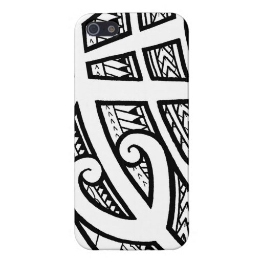 bold tribal tattoo island design with spearheads cover for iphone 5 5s zazzle. Black Bedroom Furniture Sets. Home Design Ideas