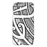 Bold tribal tattoo Island design with spearheads iPhone 6 Case