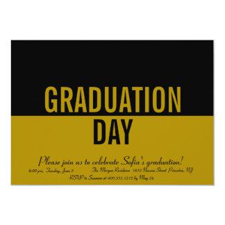 Bold Type Color Block Graduation Invitation GOLD
