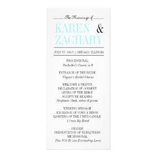 Bold Type Wedding Program Customized Rack Card