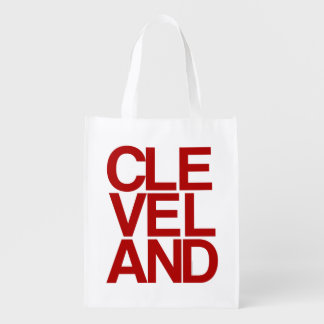 Bold Typographic Cleveland Souvenir Grocery Bag