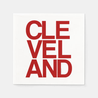 Bold Typographic Cleveland Souvenir Standard Cocktail Napkin