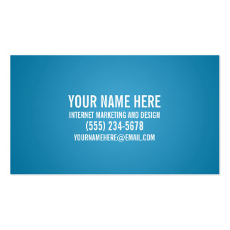 Bold Typography Cyan Business Card