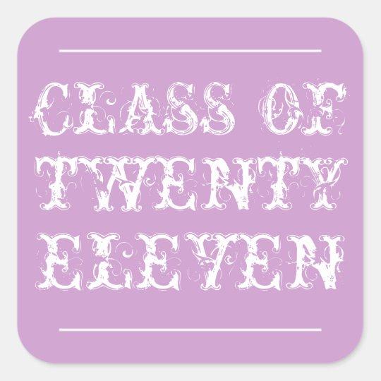 Bold Typography Graduation Sticker