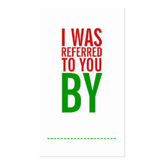 Bold Typography Holiday Referral Card Business Card