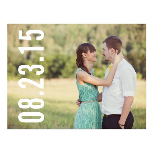 BOLD TYPOGRAPHY | PHOTO SAVE THE DATE POSTCARD