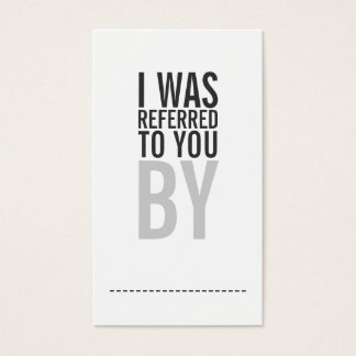 Bold Typography Referral Card Promotional