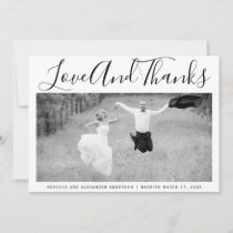 Bold typography Thank You wedding photo