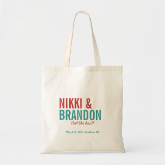 Bold Typography Wedding Announcement Welcome Favor Bag