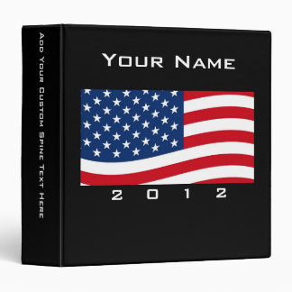Bold USA Theme, Custom Personalized Design 3 Ring Binder