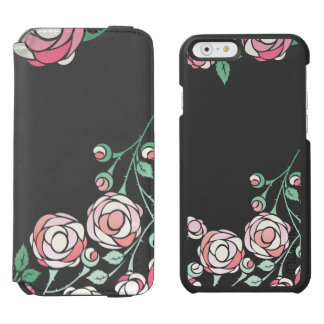 Bold Vector Pink Roses iPhone 6/6s Wallet Case