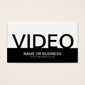 bold VIDEO Business Card