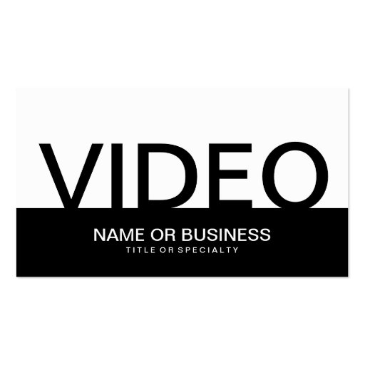 bold VIDEO Business Card Template