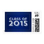 Bold Vintage Blue Gold 2015 Graduation Postage