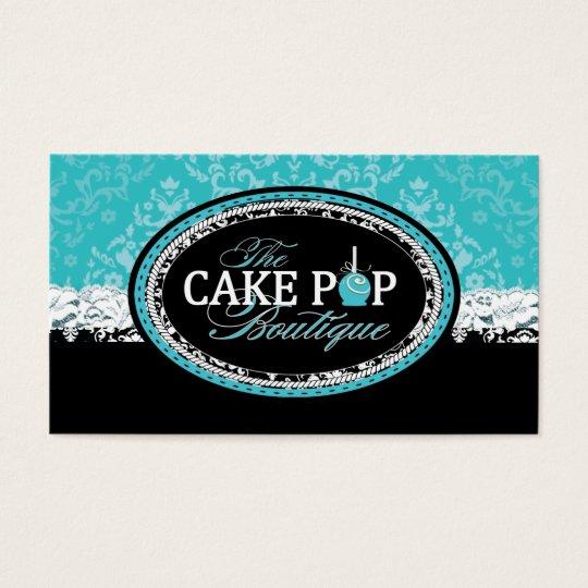 Bold Vintage Cake Pops  Business Cards