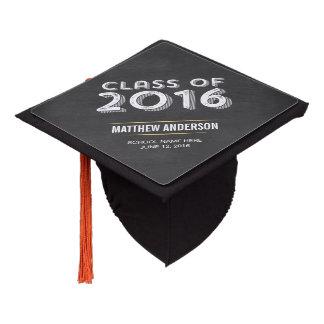 Bold Vintage Chalkboard Faux Gold 2016 Graduation Graduation Cap Topper